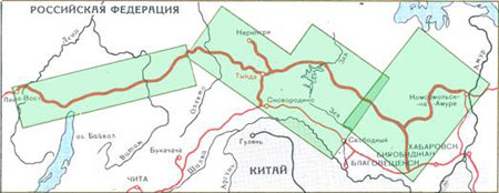 Карта БАМ